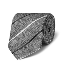 Striped Silk Tie by Hugo Boss  in House of Cards