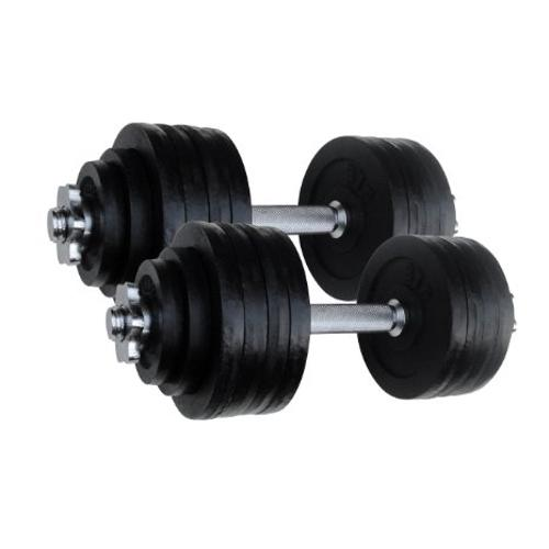 Adjustable Cast Iron Dumbbells - DWP2Z by Unipack in Pain & Gain