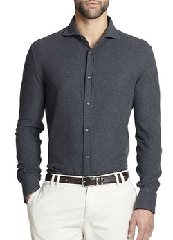 Pique Polo Shirt by Brunello Cucinelli in Empire