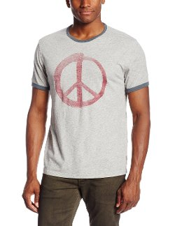 Men's Peace Graphic Ringer T-Shirt by John Varvatos in Hall Pass