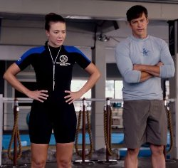 Custom Made Ladies Shorty Stretch Wetsuit (Austin Highsmith) by Ocean Tec in Dolphin Tale 2