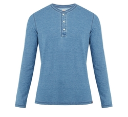 Long-Sleeved Cotton Henley Shirt by Faherty in Maze Runner: The Death Cure