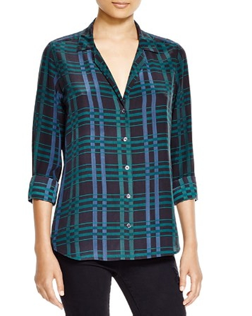 Adalyn Button Down Plaid Shirt by Equipment in Nashville - Season 4 Episode 9