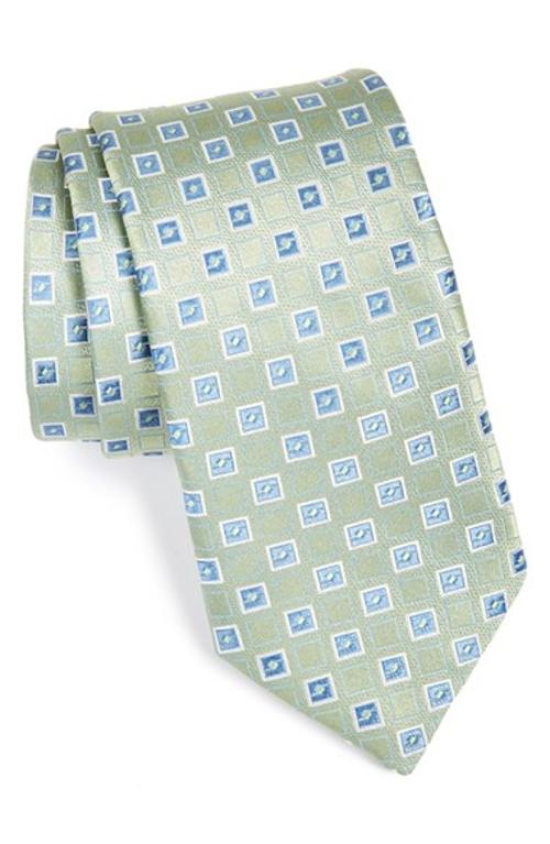 Woven Silk Tie by Michael Kors in Dope