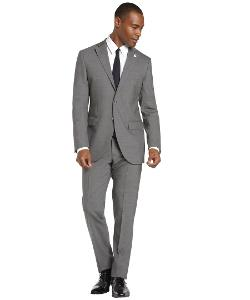 Grey Virgin Wool 2-Button Suit With Flat Front Pants by LUBIAM in Million Dollar Arm