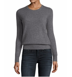 Classic Cashmere Crewneck Sweater by Neiman Marcus Cashmere Collection in Ingrid Goes West