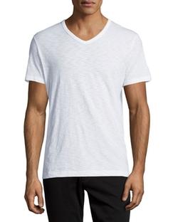 Slub Jersey V-Neck T-Shirt by Vince in Gossip Girl