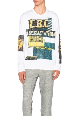 Sequin Graphic Print Tee by Maison Margiela in Empire