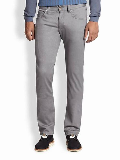 Straight-Leg Denim Jeans by Armani Collezioni in Black Mass