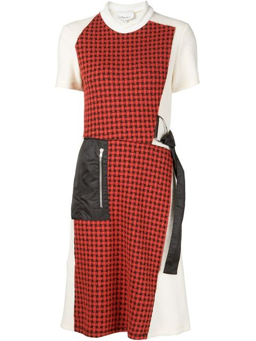 Checked Patchwork Dress by 3.1 Phillip Lim in The Good Wife - Season 7 Episode 8