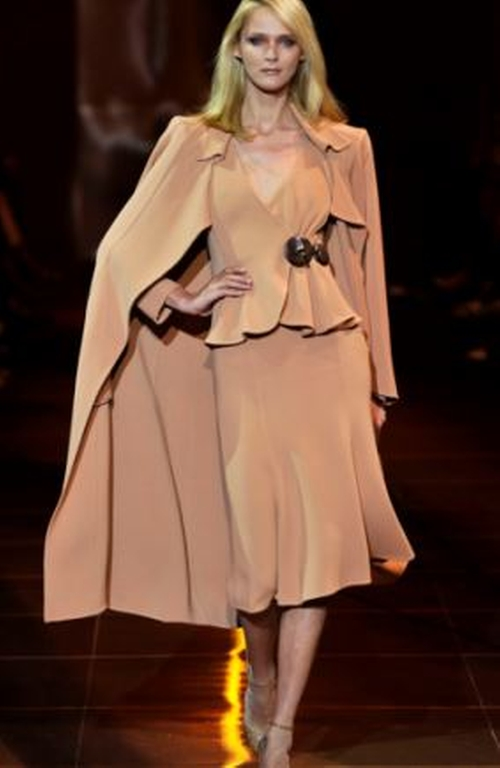 Fall 2015 Couture Beige Top by Armani Privé in American Horror Story