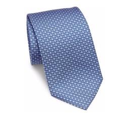 Geometric Silk Tie by Salvatore Ferragamo in Empire