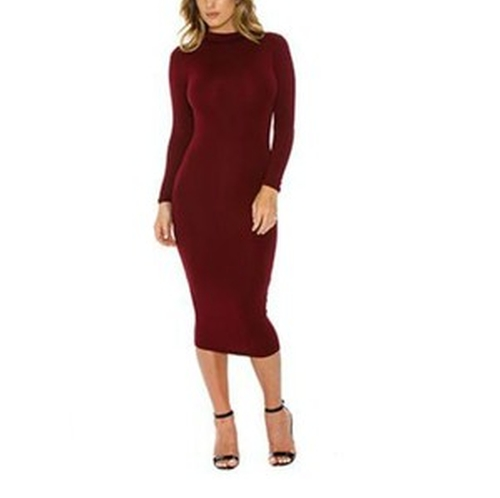 Mock Neck Pencil Dress by Naked Wardrobe in Keeping Up With The Kardashians - Season 11 Episode 12