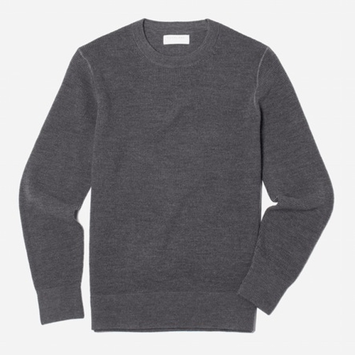 The Merino Waffle Crew Sweater by Everlane in The Girl on the Train