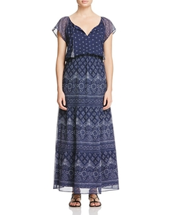 Manalia Printed Silk Maxi Dress by Joie in How To Get Away With Murder