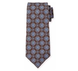Circle-Medallion Printed Silk Tie by Isaia in The Blacklist