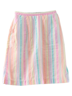 Striped Print Skirt by Pykettes in Wet Hot American Summer