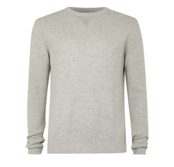 Textured Crew Neck Sweater by Topman in Bridget Jones's Baby