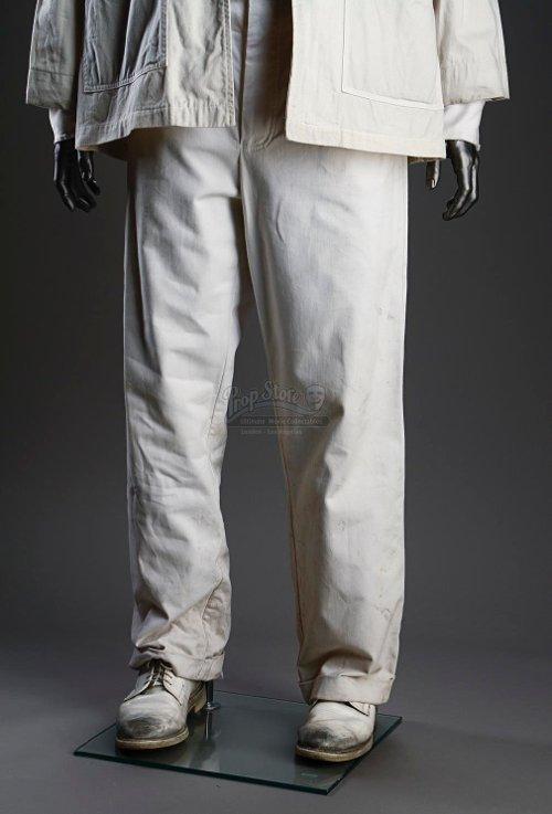 Orderly Uniform White Trousers (Leonardo DiCaprio) by Sandy Powell (Costume Designer) in Shutter Island