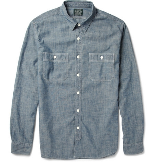 Cotton-Chambray Shirt by J.Crew in The D Train