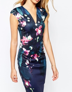 Antonya Floral Midi Dress by Ted Baker in The Flash