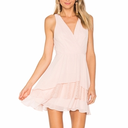 Surplice Ruffle Dress by BCBGeneration in The Layover