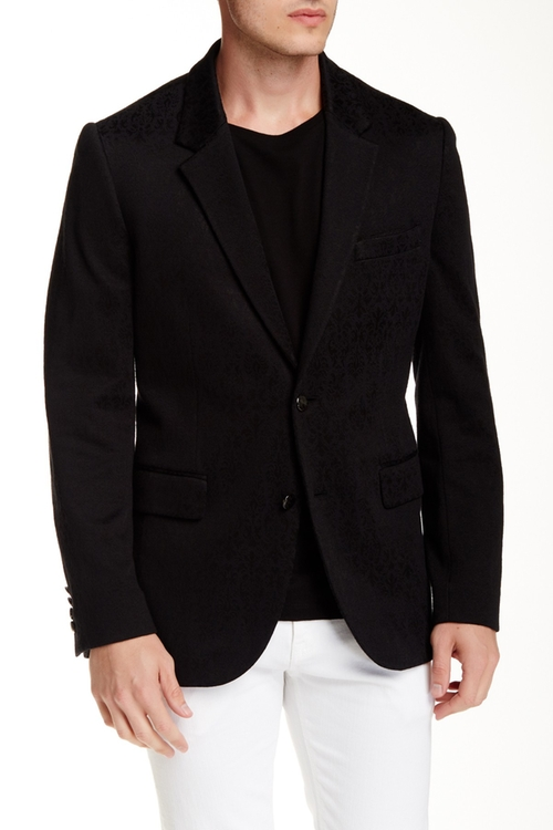 Laurelton Jacquard Notch Lapel Blazer by Robert Graham in Ballers - Season 1 Episode 2
