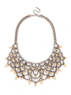 Gothic Fang Bib Necklace by BaubleBar  in Pretty Little Liars