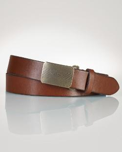 Buckle Leather Belt by Ralph Lauren in Neighbors