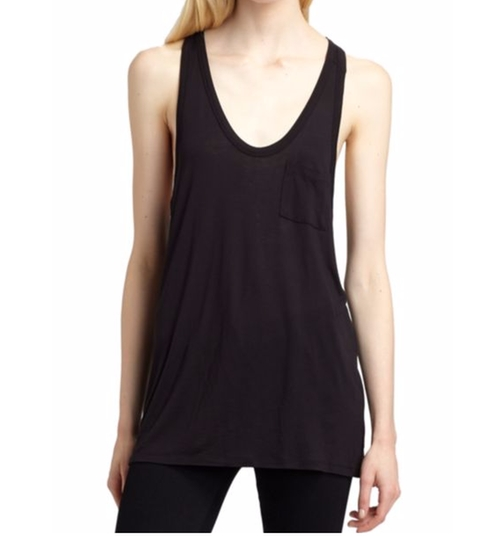 Classic Pocket Tank Top by T By Alexander Wang in Keeping Up With The Kardashians - Season 12 Episode 9