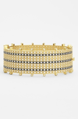 Tuxedo Stripe Hinged Bangle by Freida Rothman in The Second Best Exotic Marigold Hotel