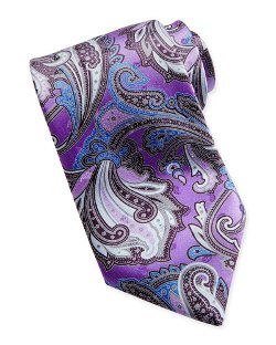 Paisley-Print Silk Tie by Ermenegildo Zegna	 in Hot Pursuit