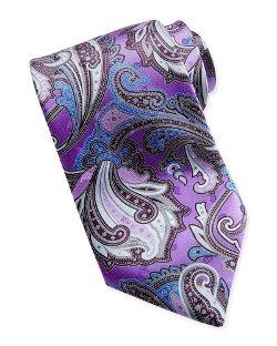 Paisley-Print Silk Tie by Ermenegildo Zegna in Hot Pursuit
