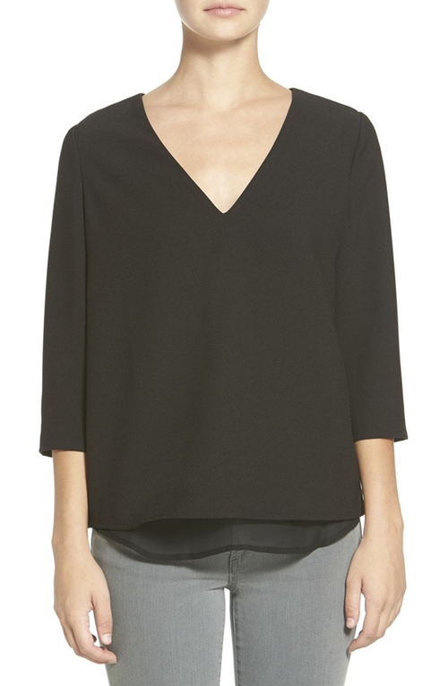 Susan Open Zip Back Blouse by Cooper & Ella in The Martian