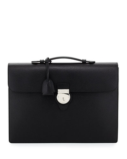 Buckle-Flap Leather Briefcase by Gucci in Suits
