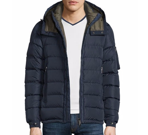 Danube Hooded Down Jacket by Moncler in The Great Indoors - Season 1 Preview