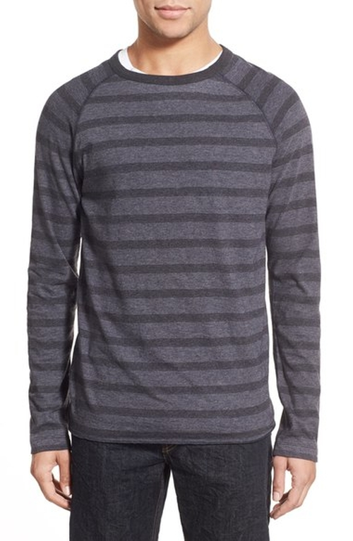 Regular Fit Stripe Crewneck Sweater by Billy Reid in Silicon Valley