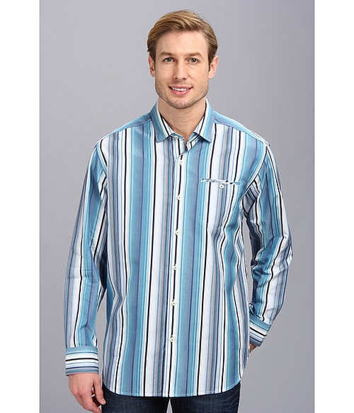 Mo' Raj Stripe Shirt by Tommy Bahama in Modern Family