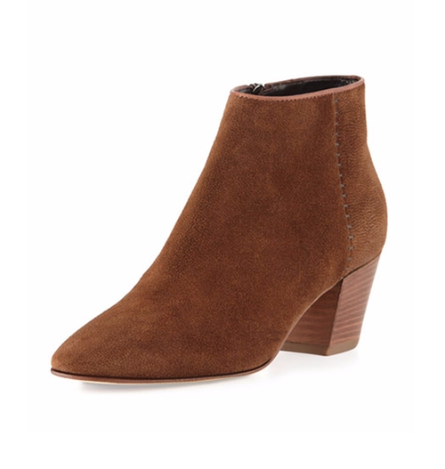 Felicia Weatherproof Suede Booties by Aquatalia in Pretty Little Liars - Season 7 Episode 10