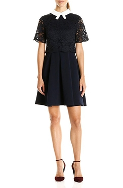 Dixxy Lace Bodice Double Layer Dress by Ted Baker in Riverdale
