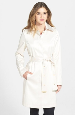 Belted Satin Trench Coat by Via Spiga in Quantico
