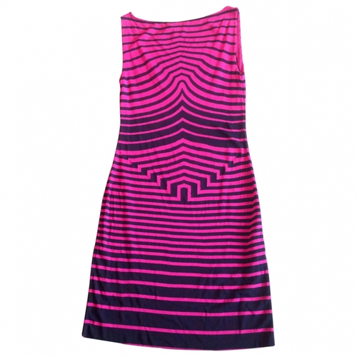 Pink Stripe Viscose Dress by Alexander McQueen in Neighbors 2: Sorority Rising