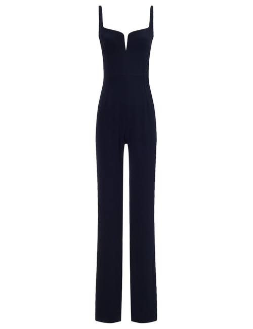 Crepe Bustier Jumpsuit by Galvan in Keeping Up With The Kardashians - Season 11 Episode 8