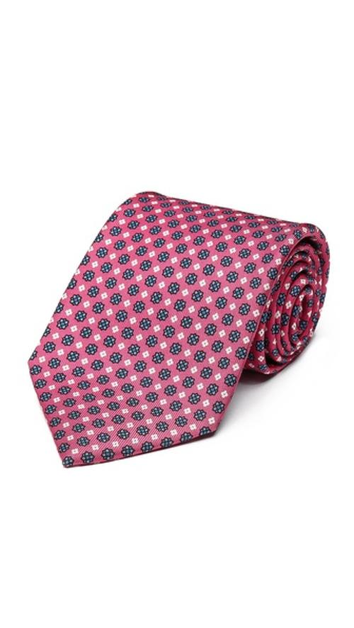 Medallion Print Silk Tie by Drake's in And So It Goes