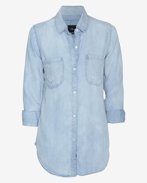 Exclusive Antique Wash Denim Shirt by Rails in And So It Goes