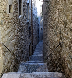 Girona, Spain by Carrer de Sant Llorenç (Depicted as an alley in Braavos) in Game of Thrones
