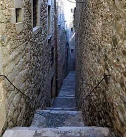 Girona, Spain by Carrer de Sant Llorenç (Depicted as an alley in Braavos) in Game of Thrones