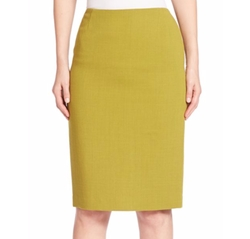 Nouveau Crepe Wool Pencil Skirt by Lafayette 148 New York in The Good Fight