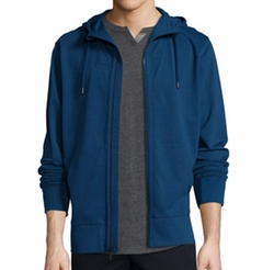 French Terry Front-Zip Hoodie by The Good Man Brand in The Ranch