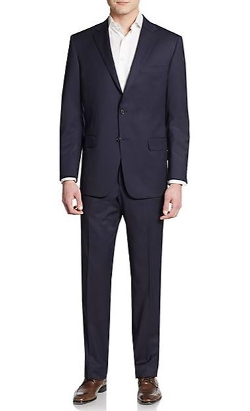 Pinstripe Worsted Wool Suit by Hickey Freeman in The Second Best Exotic Marigold Hotel